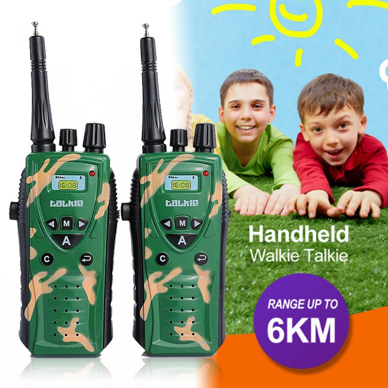 2Pcs Military Camouflage Walkie Talkie Intelligence Development Interaction Toy Kids - Hoot & Nanny