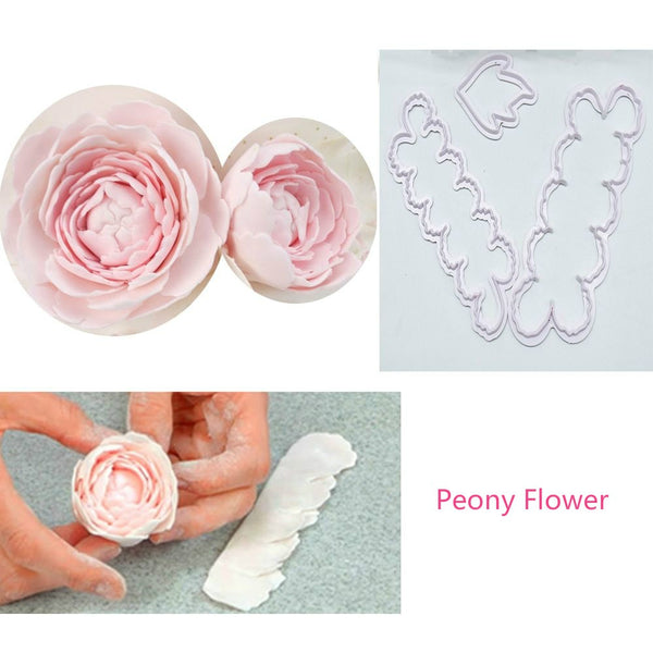 Fence Car Crown Tractor Carnation Peony Flower Giraffe Unicorn Fondant mould cake decorating tools