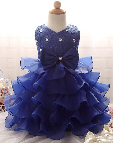 Girls Ruffles Lace Pageant Dress
