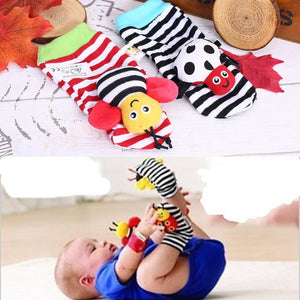 Infant Baby Animal Rattle Foot Socks