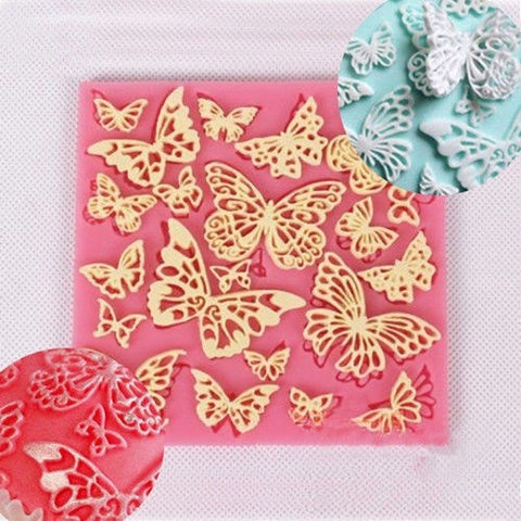 Butterfly Lace Silicone Decorating Mold