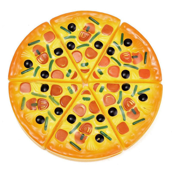 6PCS Childrens/Kids Pizza Slices Toppings Pretend Dinner Kitchen Play Food Toys (Size: 6PCS, Color: Yellow)