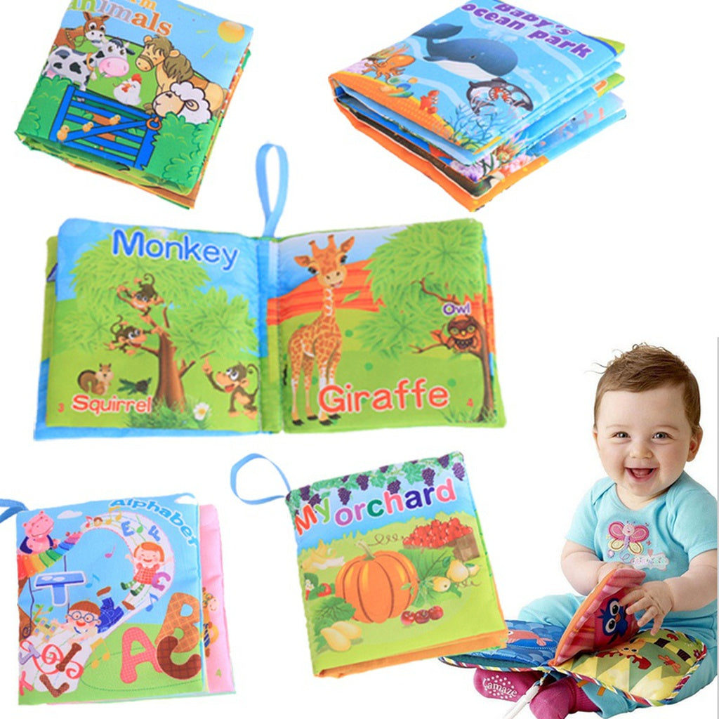Hot New Infant Kids Early Development Cognitive Cloth Books Learning Intelligence Toys