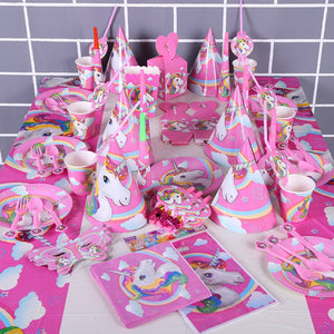 Kids Unicorn Theme Birthday Party Supplies Favor Tableware Decor Gift Candy Box