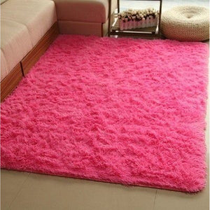 New fashion Bedroom Living Room Shaggy Carpet Area Rugs