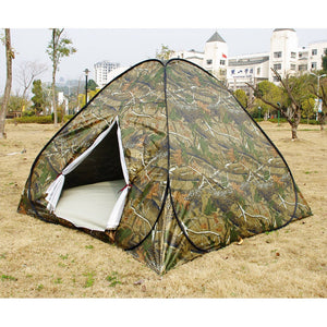Army 4~6 Person Rainproof Ourdoor Camping Tent for Bivouac Hiking Fishing Hunting Adventure Picnic BI15 (Color: Navy blue)