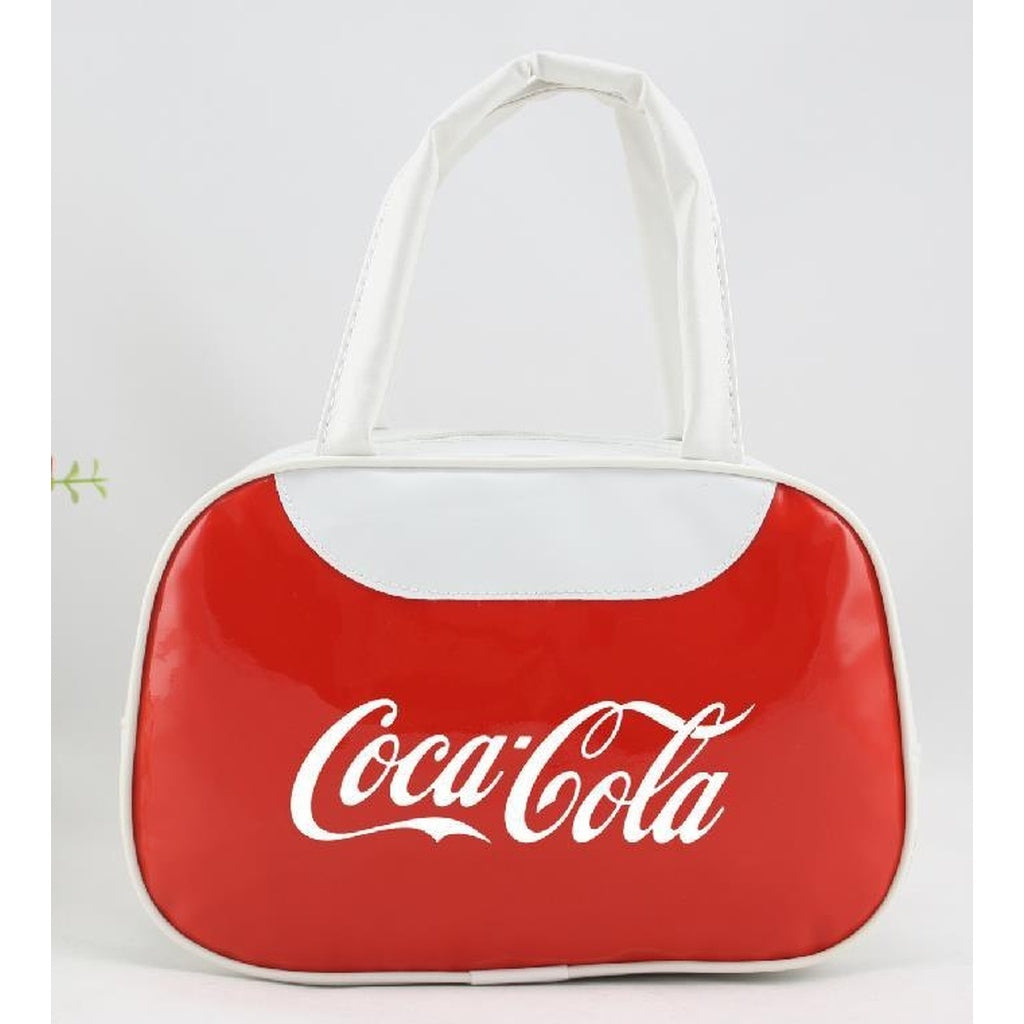 New style Coca-Cola ladies handbag fashion bright leather bag