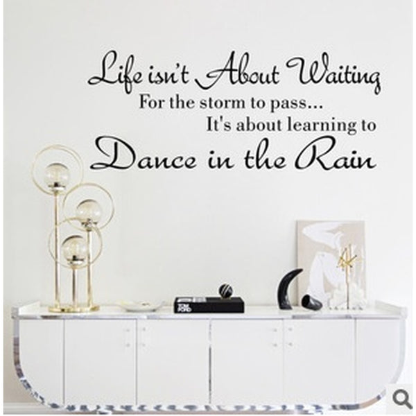 dance in the rain wall stickers home decoration bedroom wallpaper wall art decor wall sticker murals arts
