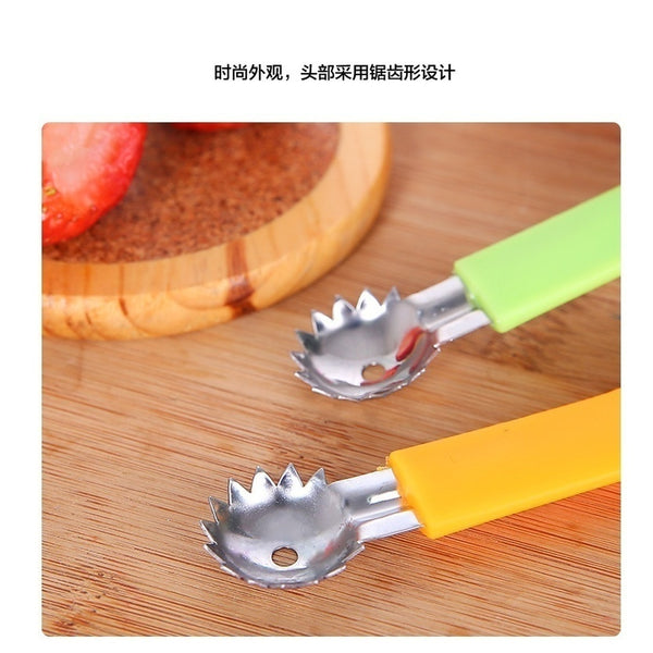 Practical Strawberry Tomatoes Leaves Remover Corer Vegetable Fruit Knife (Color: Multicolor)