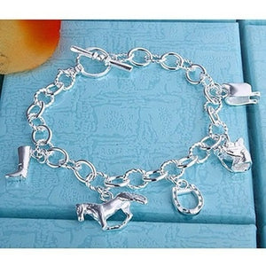 925 silver fashion bracelet horse hoof jewelry