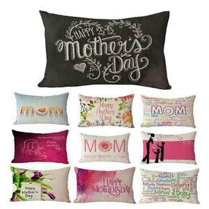 Mother's Day Rectangle Sofa Bed Home Decoration Pillow Case Cushion Cover Vogue Dresses