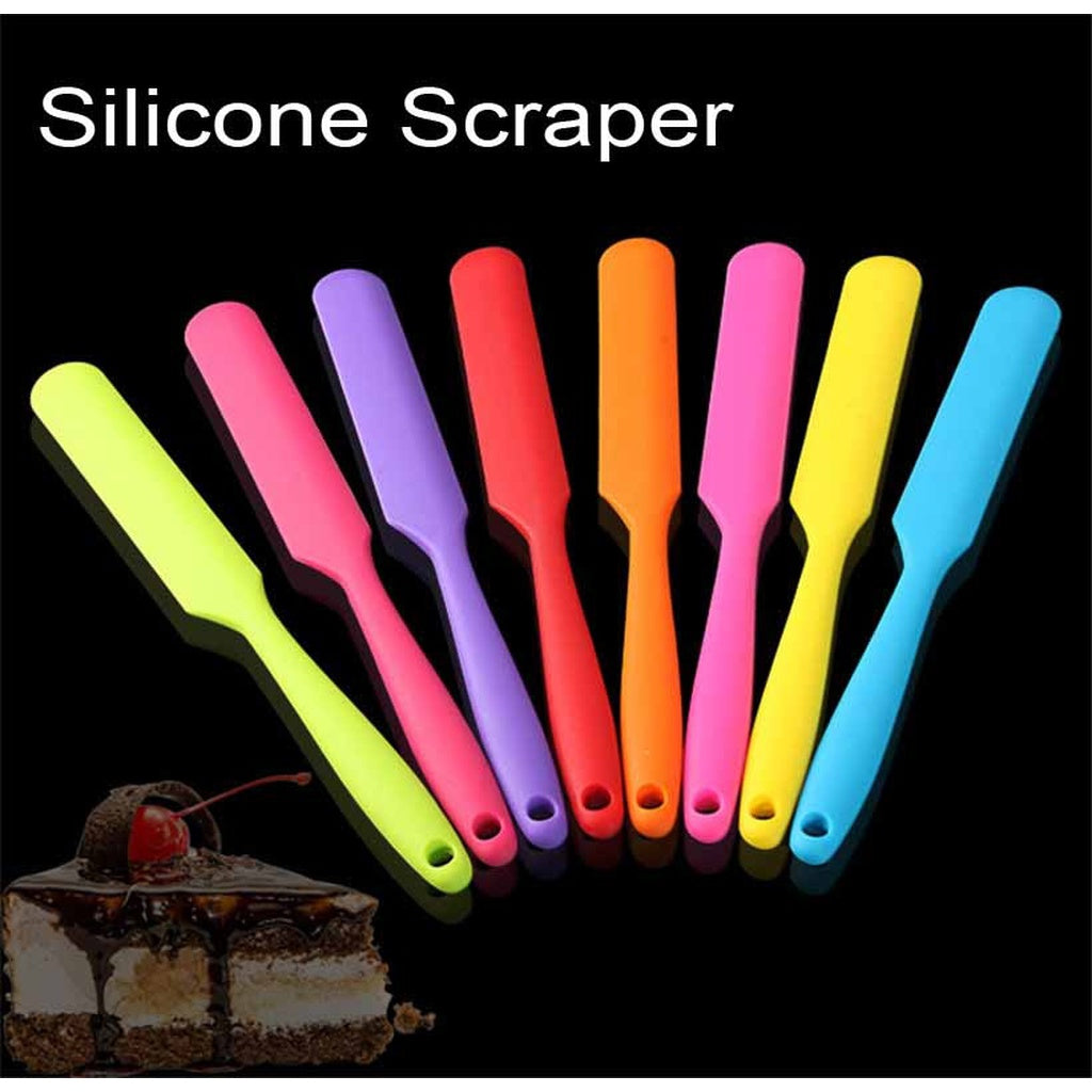 New Baking Tool Cake Double Silicone Spatula Spoon Cookie Spatulas Pastry Scraper Butter Ice Cream Scoop