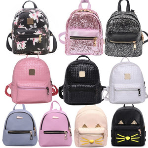 Fashion Women Pu Leather Bag Travel Backpack School Bags