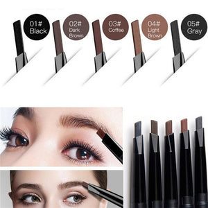 Waterproof Long lasting Automatic Rotation Eye Brow Pencil Eyebrown Pencil Double eyebrow