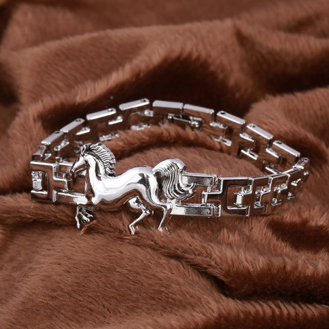 Charming Horse Bracelet Punk Animal Caballo Pulseria Perfect Man Charm Bracelet Jewelry
