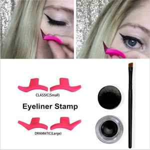 Winged Eyeliner Stamp Classic/ Dramatic/ Set Easy Eye Makeup