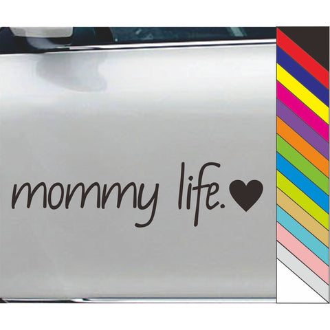Mommy Life Decal Vinyl Car Door Window Bumper Sticker Decal Laptop Decor Waterproof