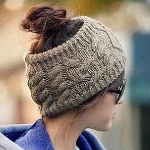 High Quality Fashion Design  Female Cap New Winter Warm Knit Hat 5 Color Wholesale&Retail