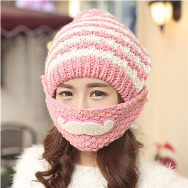 Hot Sale Fashion Warm Female Beanies Cap New Brand  Unique Design  Knitted Hat For Christmas Gift  women winter hat
