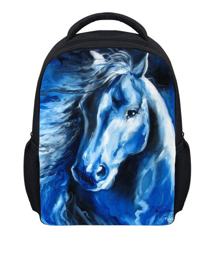 Small 12inch Children School Bag 3D Animal Mini Horse Cat Print Girls Schoolbag Cute Child Kindergarten Book bags Mochila Kids