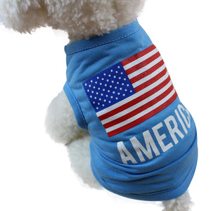 American Flag Dog Shirt