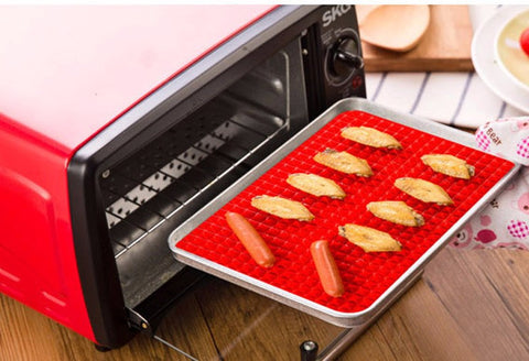 Healthy Raised Silicone Roasting Mat 40*27*1 cm