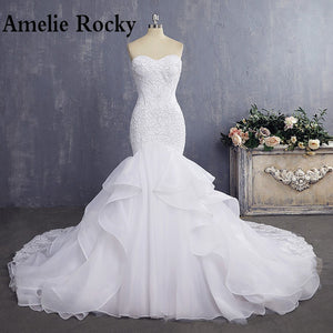 Sexy Mermaid Wedding Dresses Vintage Lace Wedding Dress