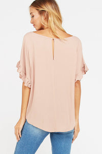 All About That Romance Blouse - Blush