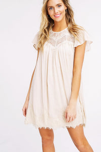 Sweet Heart Dress - Cream