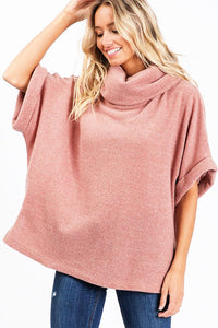 Cool Cues Popover Top - Mauve