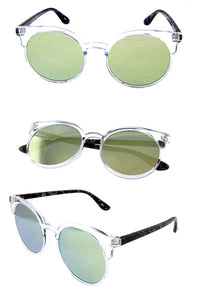 Miss Molly Sunglasses - Clear/Mirror