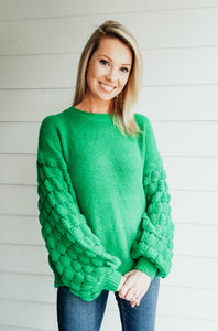 Good To Me Sweater - Emerald Green