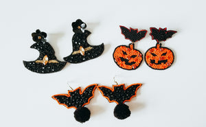 Witch Hat Statement Earrings