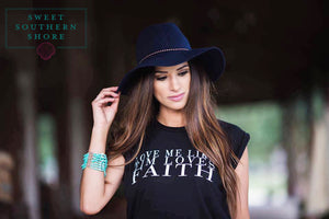 """Love Me Like Tim Loves Faith""- Flowy Black Tee"