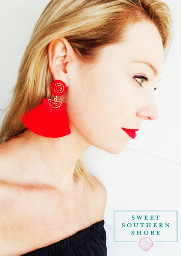 Never Overlooked Earrings -Red Hot