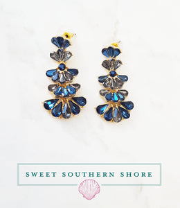 Charlotte Chandelier Earrings - Midnight Blue