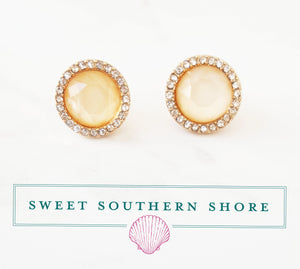 Kate Stud Earrings - Peach