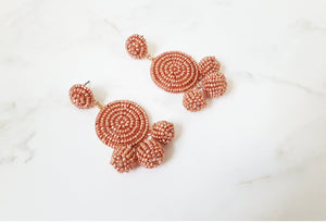 Emily Metal Earrings - Rose Gold