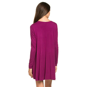 Never Let Me Go Pocket Dress - Magenta