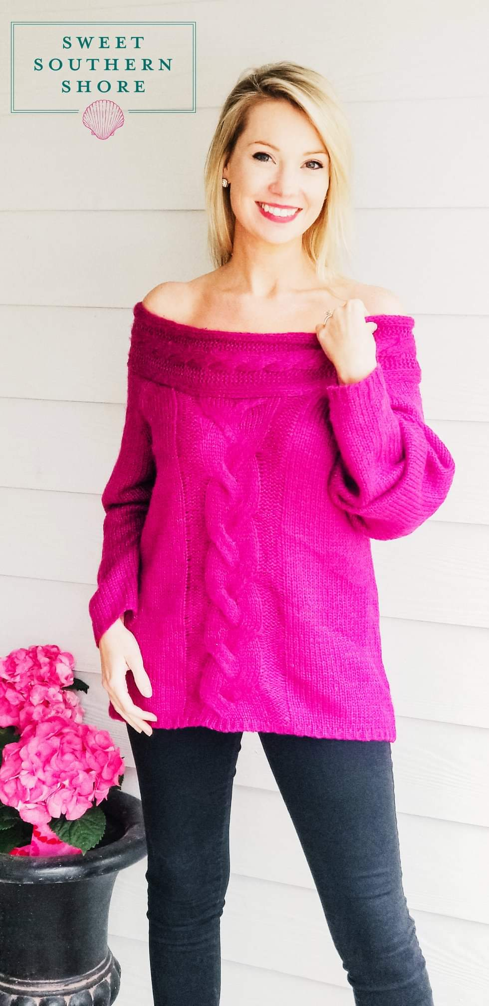 Falling In Love Sweater - Orchid