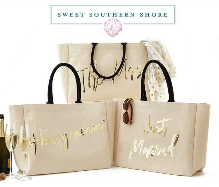Honeymoon Sequin Totes