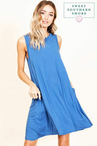 Searching For Sunshine Dress - Blue Denim