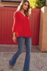 Can't Resist Blouse - Red