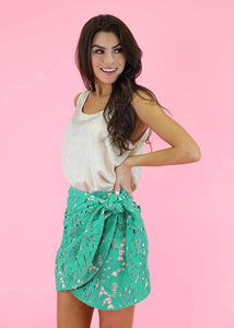 Paradise Crochet Wrap Skirt