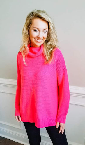 My Sweetest Obsession Sweater - Hot Pink