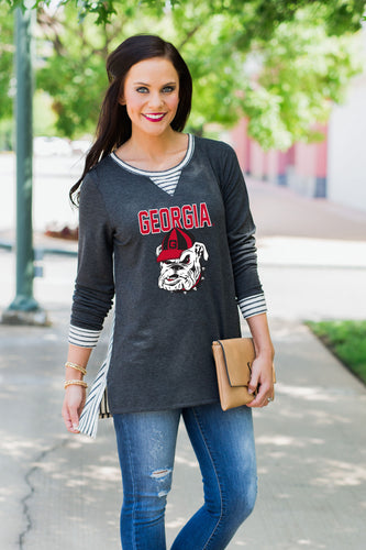Time To Tailgate | Game Day Oversized Tunic Top - Georgia