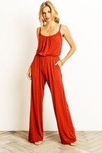 Downtown Stroll Jumpsuit - Rust