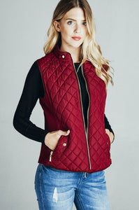 Walk With Me Vest - Burgundy
