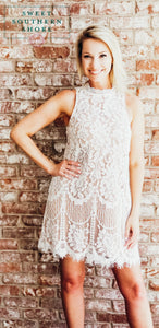 Waiting All My Life For You Lace Dress - White