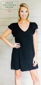 A Little Flirty Dress - Black